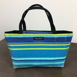 Kate Spade Stripe Fabric Mini Bag